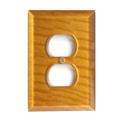 Deep Gold Glass single duplex outlet cover