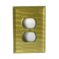 Jade Glass Duplex Outlet cover