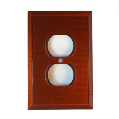 Agate Glass Single Duplex Outlet Cover