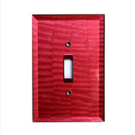 Ruby Glass single toggle switch cover