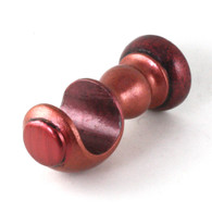 "SMALL WOOD CUP BRACKET POPPY IN CORAL PAINT FINISH WITH RUBY ACCENTS IS SUITABLE FOR DRAPERY RODS 1 3/8"" DIAMETER."