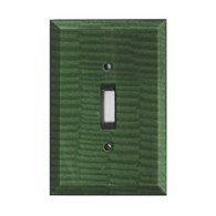 Emerald Glass Single Toggle Switch Cover