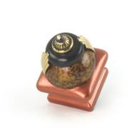 Petit Square #2 knob copper with gold metal details