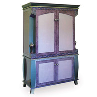 Ritz Media 2 Piece Entertainment Unit in shell pink and turquoise
