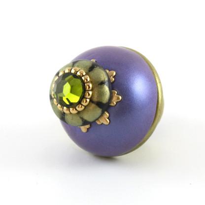 Nu Iris knob periwinkle 1.5 inches diameter