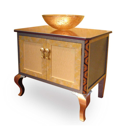 Charisma Bathroom Vanity Sink Cabinet Light Gold paint finish