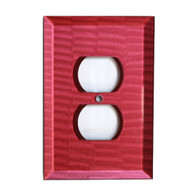 Ruby Glass Single Duplex Outlet Cover