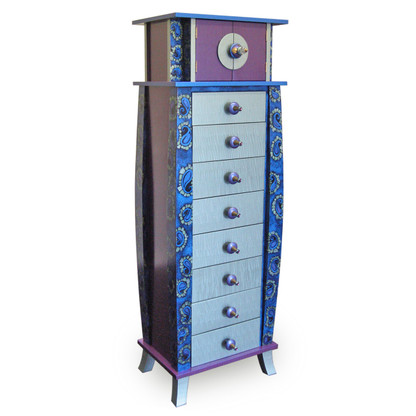 Tango Tower in Amethyst,and Light Aqua Paint Finish
