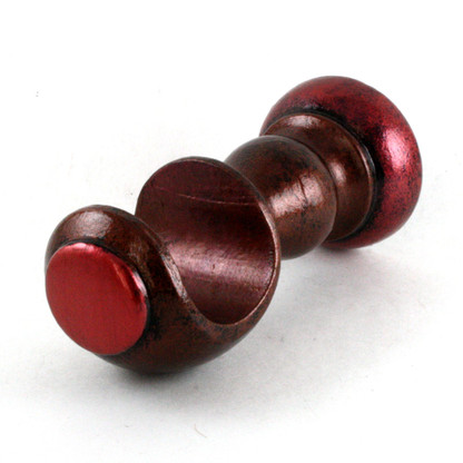 "Small Wood Cup Bracket Agate with ruby accents is suitable for drapery poles 1 3/8"" diameter."
