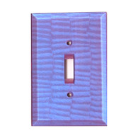 Periwinkle Glass Single Toggle Switch Cover
