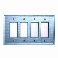 Light Sapphire Glass quad decora switch cover