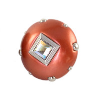 Mini Style 8 knob copper with silver metal details and AB Crystal