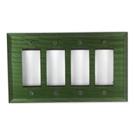 Emerald Glass quad decora switch cover