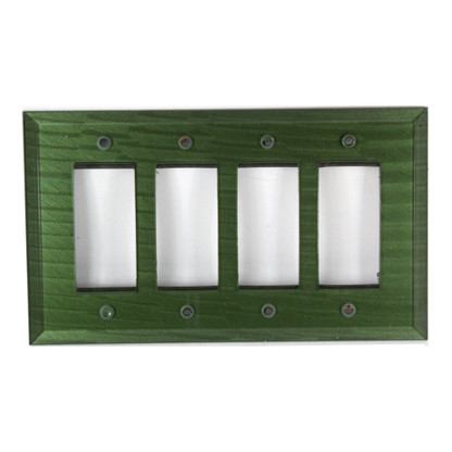 Emerald Glass quad decora switch cover