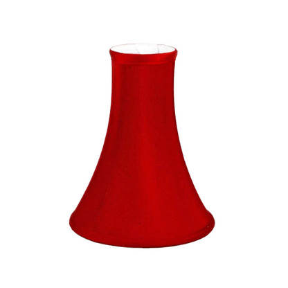 Lamp shade silk bell poinsettia with white lining