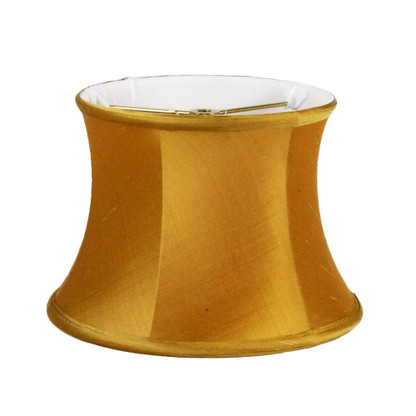 Lamp shade small drum in silk Aztec Gold