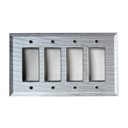 Silver Glass Quad Decora Switch Cover