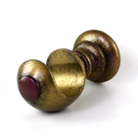 """Large cup bracket with gold stipple paint finish and amethyst accent color is suitable for rods 2"""" diameter"""