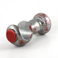 """SMALL WOOD CUP BRACKET in Stippled SILVER PAINT FINISH WITH RUBY ACCENTS  IS SUITABLE FOR DRAPERY RODS 1 3/8"""" DIAMETER."""