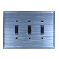 Light Sapphire Glass Triple toggle switch cover