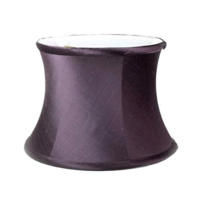 Lamp shade small drum in dupioni silk sugar plum