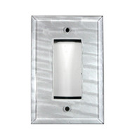 Silver Glass Single Decora Switch Cover