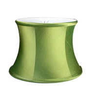 Lamp shade small drum in dupioni silk absinthe