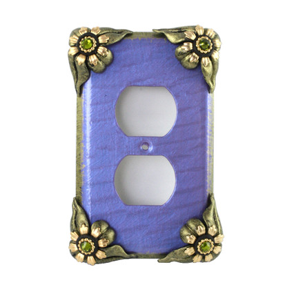 bloomer Iris single duplex outlet cover