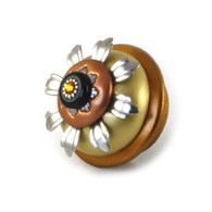 XL sunflower deep gold knob 2.5  in.diameter and 1.75 in. projection
