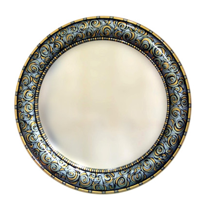 "Aurora Mirror 36"":round in Marine color scheme"