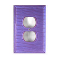 Periwinkle Glass single duplex outlet cover
