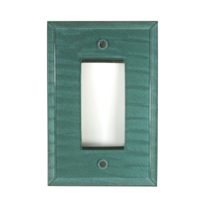 Aqua Glass Single Decora Switch Cover Aqua