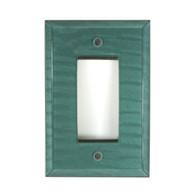 Aqua Glass Single Decora Switch Cover Aqua