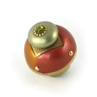 Nu Duo Knob Copper 1.5 Inches Diameter has gold painted stem