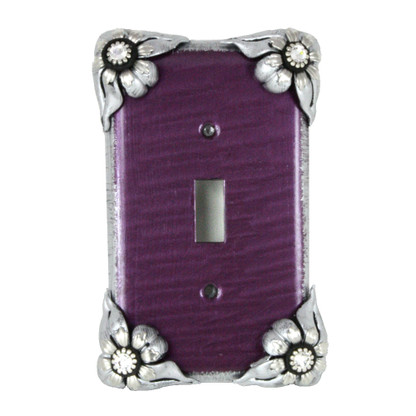 Bloomer Violet Single toggle  switch cover