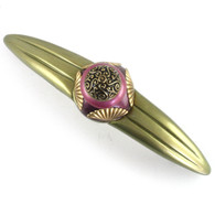 Tudor jade amethyst orbit 7 pull 7 inches with 5 inch hole span with gold metal details