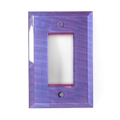 Periwinkle Glass Single Decora Switch Cover