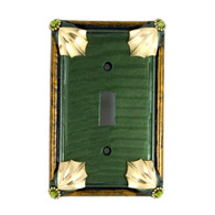 Cleo Single Toggle Switch Cover Emerald