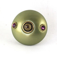 Mini Style #1 Knob Jade 2 Inches Diameter