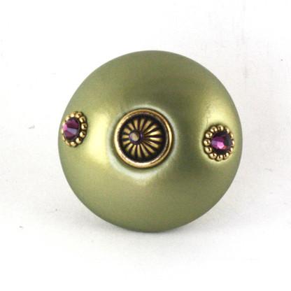 Mini Style #1 Knob Jade 2 Inches Diameter
