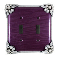 Bloomer Violet double toggle switch cover