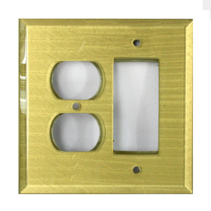 Jade Glass duplex outlet decora switch cover