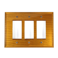 Deep Gold Glass Triple Decora Switch Cover