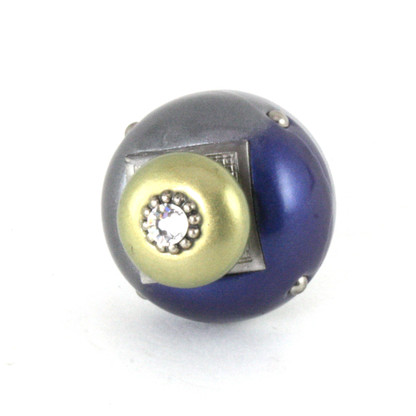 Nu Duo Knob Deep Lapis 1.5 Inches Diameter