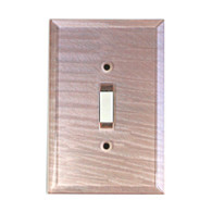 Light Bronze Glass Single Toggle Switch Cover