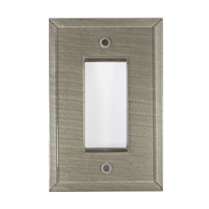 Dune Gold glass single decora switch cover