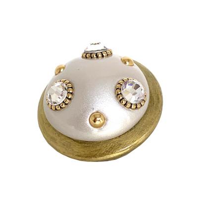 Xl Style #6 knob alabaster with Austrian crystals