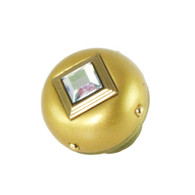 Nu Mini Style #8 Light Gold 1.5 in. diameter with gold metal accents and AB crystal