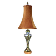 Seaside Sandy Accent lamp with Bell shade pecan