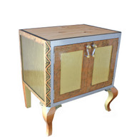 Charisma Vanity Sink Cabinet in light gold, bronze and amber paint finish
